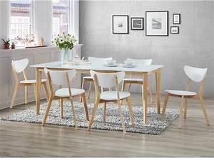 Table Et Chaise Scandinave : ensemble table extensible 6 chaises carine blanc ~ Melissatoandfro.com Idées de Décoration