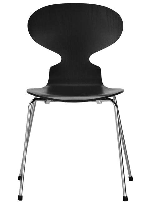 chaise empilable fourmi noir fritz hansen
