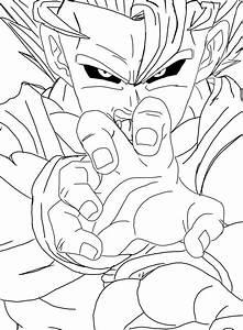 Evil Goku SSJ2 Lineart by mooshinboy on DeviantArt