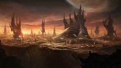 Stellaris Tapeta Skarpy Obce Miasto Skraju Gry