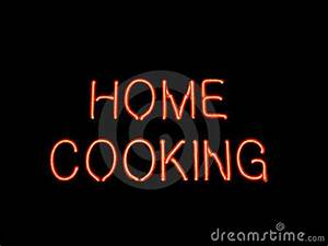 Home Cooking Neon Sign Stock graphy Image