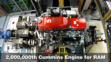 cummins builds  millionth pickup engine  ram hd