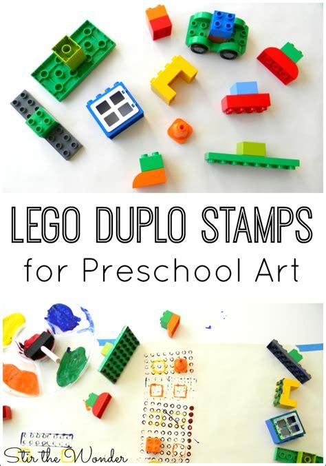 lego duplo stamps for preschool stir the 688 | LEGO Duplo Stamps for Preschool Art