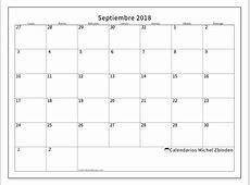 Calendario septiembre 2018 70LD