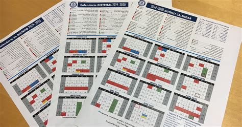 district calendar summary faq
