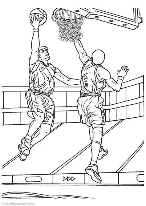 print  interesting basketball coloring pages