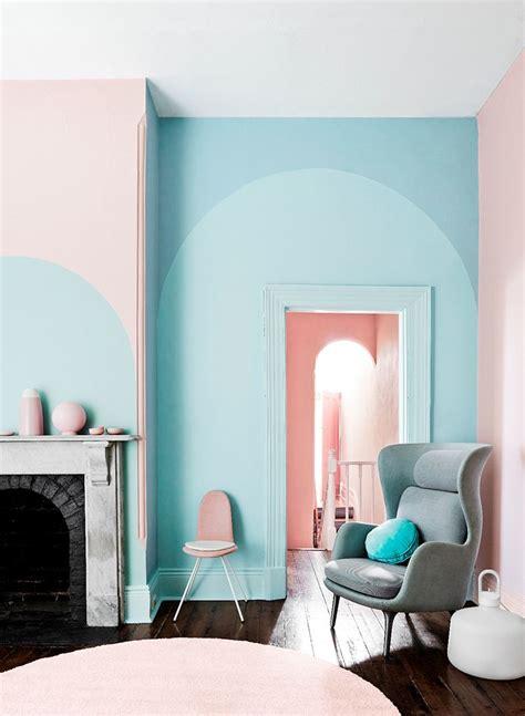 Wand Muster Streichen by Frische Kombination Aus Hellem Rosa Und Hellblau F 252 R Die