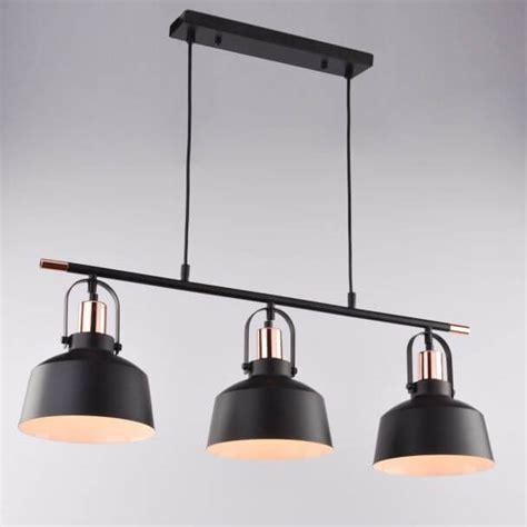 le suspension cuisine suspension loft industrielle métal noir 3 abat jours e27