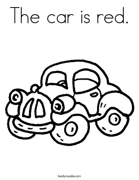 car  red coloring page twisty noodle