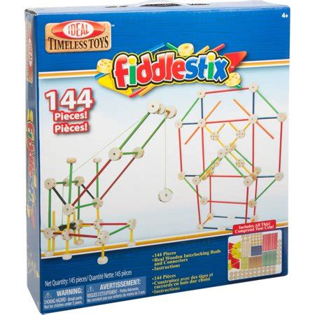 Ideal 144piece Fiddlestix Classic Wood Connector Set