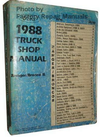 service and repair manuals 1988 ford bronco ii security system 1988 ford ranger bronco ii factory shop service repair manual factory repair manuals