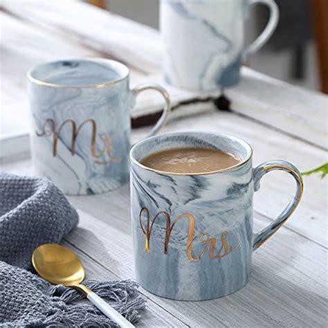 Mr Mrs Couples Camping Ceramic Coffee Mug Set 14oz