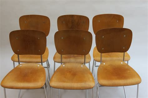 armin wirth plywood stacking chairs swiss