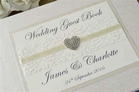 Wedding Guest Book by Ivory Personalised Wedding Guest Book Vintage Lace