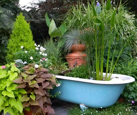 tubs in gardens furniture as planters for plants feng shui your life the tao of dana