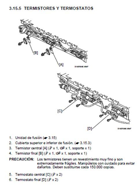 solucionado como cambio el termistor de fotocopiadora ricoh 3035 yoreparo