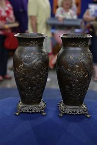 city metal works japanese mixed metal vases ca 1900 antiques roadshow pbs