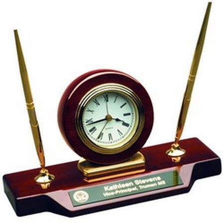 desk clock pen set desk clock with pen set with personalized plate