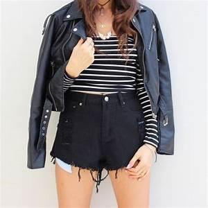 Jacket: black jacket, top, striped top, long sleeve top ...