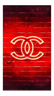 Download wallpapers Chanel red logo, 4k, red brickwall ...