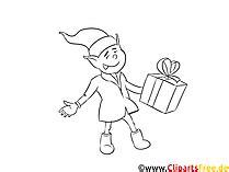 / malvorlage wunschzettel weihnachtswichtel reh ausdrucken. Weihnachtswichtel Malvorlage