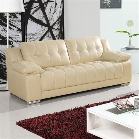 Ivory Leather Sofa And Loveseat by Newham Ivory Leather Sofa Collection