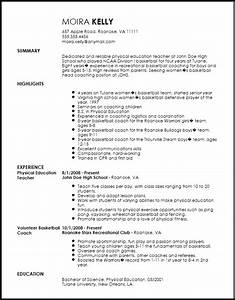 free traditional sports coach resume template resumenow With how to write a coaching resume