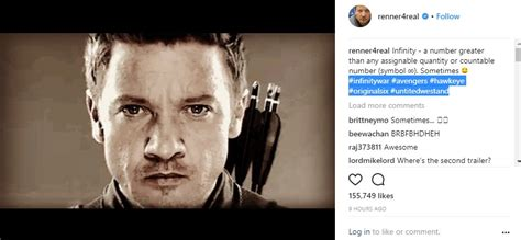 Jeremy Renner Teases Hawkeye For The Avengers Infinity