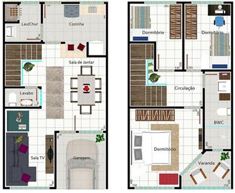 Plano de casa de dos pisos y 150 m2