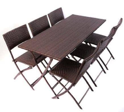wicker folding table choozone