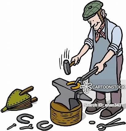Tongs Smithy Blacksmith Clipart Cartoon Cartoons Funny