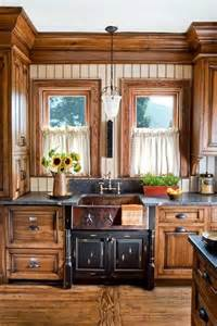 house designes wooden country kitchen