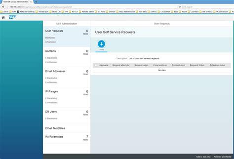 Sap Hana User Self-service Configuration