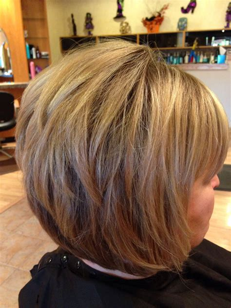 stacked bob chin length  bob hairstyles