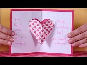Valentine s Day Heart Pop up Card