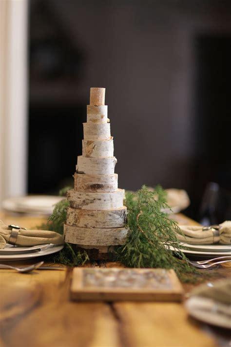 christmas tree birch tree wedding decor handmade birch