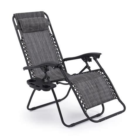 2 folding zero gravity reclining lounge chairs utility