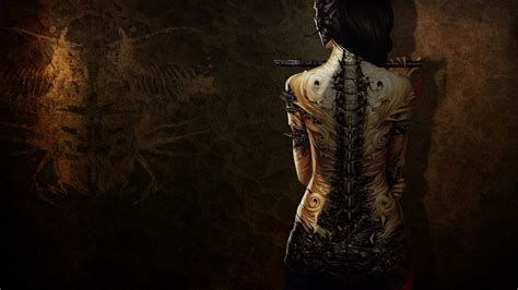 3d-girl-with-tattoo-wallpapers-free-for-desktop-hd - HD