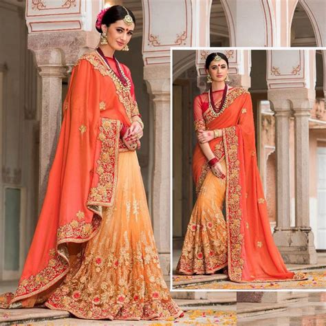 wedding designer indian bollywood saree embroidered