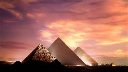 Giza Egypt Pyramids Egyptian Cool Pyramid Sunset