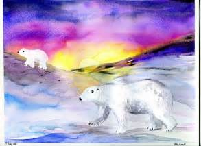 Winter Polar Bear Art Project
