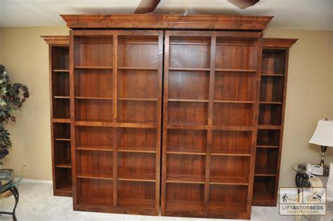 hidden murphy bed bookcase wall unit murphy wall beds lift stor beds
