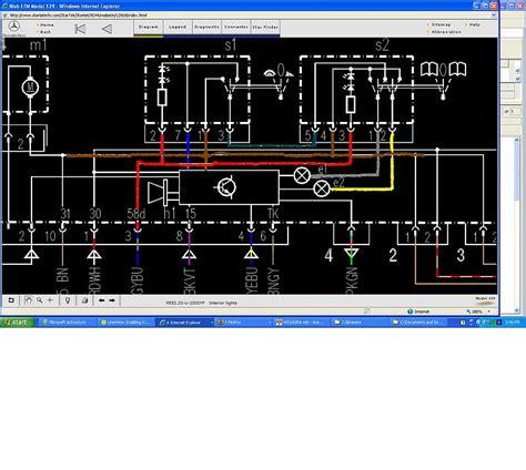 interior mirror wiring diagram mercedes