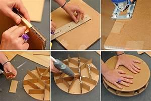 Objet En Carton Facile A Faire : comment fabriquer un pouf en carton bricobistro ~ Melissatoandfro.com Idées de Décoration