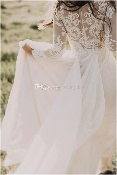 discount bohemian country wedding dresses  modest