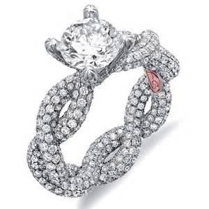extravagant wedding rings micro pave rings twisted micropave engagement ring demarco bridal jewelry diamantbilds