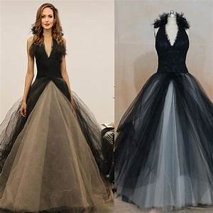 30 ideas of beautiful black and white wedding dresses for Buy black wedding dress
