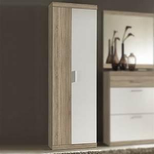 Garderobenschrank imperial 2 flur schrank in eiche sonoma for Schrank weiß 60 cm breit
