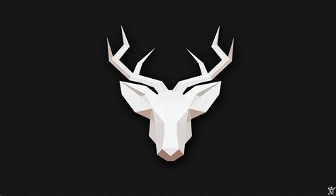 Low Poly Animal Wallpaper - deer gray low poly minimalism animals wallpapers hd