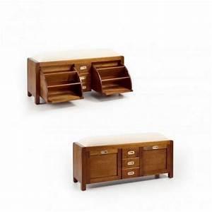 Meuble Chaussure Bois Massif : meuble a chaussure en bois meuble chaussures avec rangements ~ Teatrodelosmanantiales.com Idées de Décoration